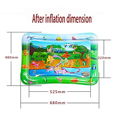 SUNSHINEMALL Tummy Time Baby Water Play Mat Dinosaur Design Infants & Toddlers, Inflatable Play Mat Toy,Tummy Water Mat for Baby Sensory Development and Stimulation Growth.BPA Free. (Dinosaur): Toys & Games