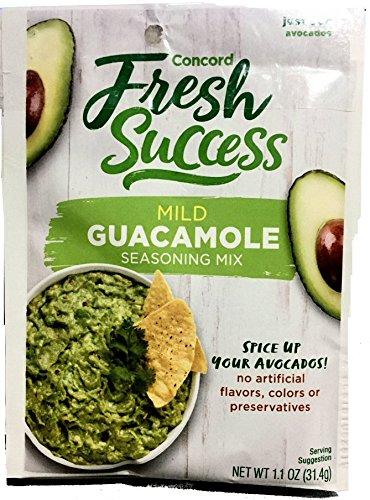 Concord Foods Mild Guacamole Seasoning Mix 1.1oz packages (VALUE Case of 18 - Guacamole Seasoning