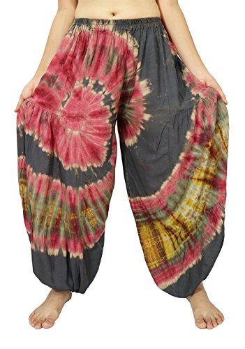 Lek Boutigue Women's Plus size loose Harem Aladdin Yoga Pants (00 Black2)