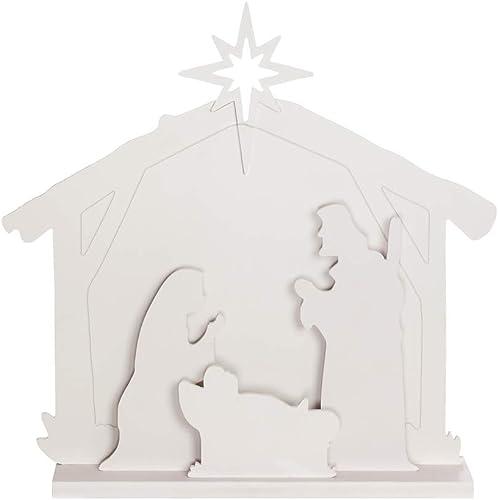 Evergreen Garden Beautiful Decorative Nativity LED Garden Statue