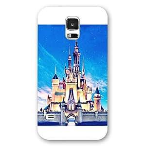 Customized White Hard Plastic Disney Castle Samsung Galaxy S5 Case