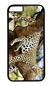 MOKSHOP Adorable jaguar sleeping tree Hard Case Protective Shell Cell Phone Cover For Apple Iphone 6 Plus (5.5 Inch) - PC Black by Maris's Diary