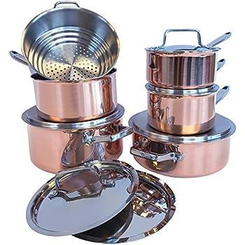 Amazon Com Paderno Canadian 12 Piece Copper Cookware Set