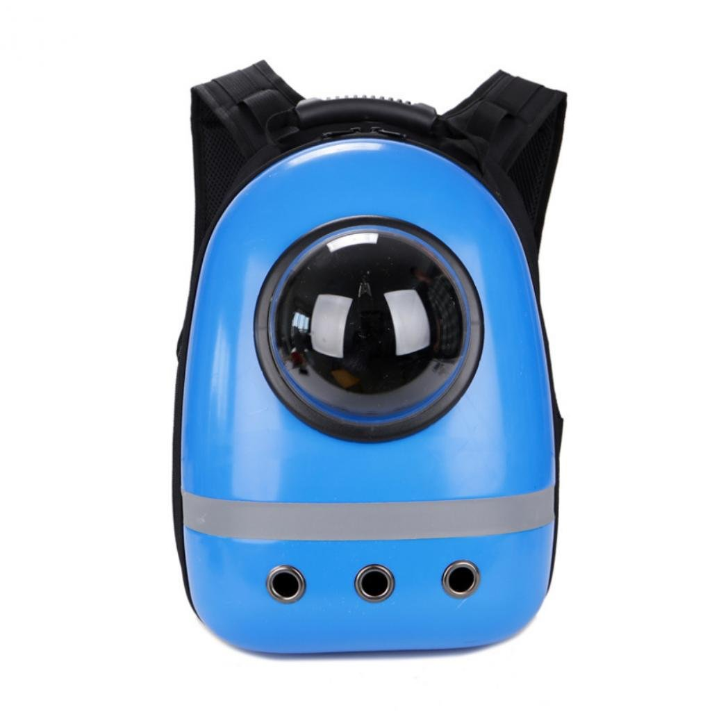 Quietcloud Pet Cat Dog Puppy Outdoor Carrier Travel Bag Space Capsule Breathable Backpack (Blue)