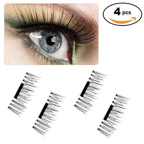 False MAGNETIC Eyelashes, Newest 3D Mini False Eyelash Pack for Eye Natural Look, Reusable Ultra-thick 0.2mm Best Fake Eyelash Extensions (1)