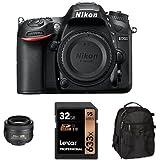 Nikon D7200 DX-Format DSLR Camera with 35mm Lens Accessory Bundle