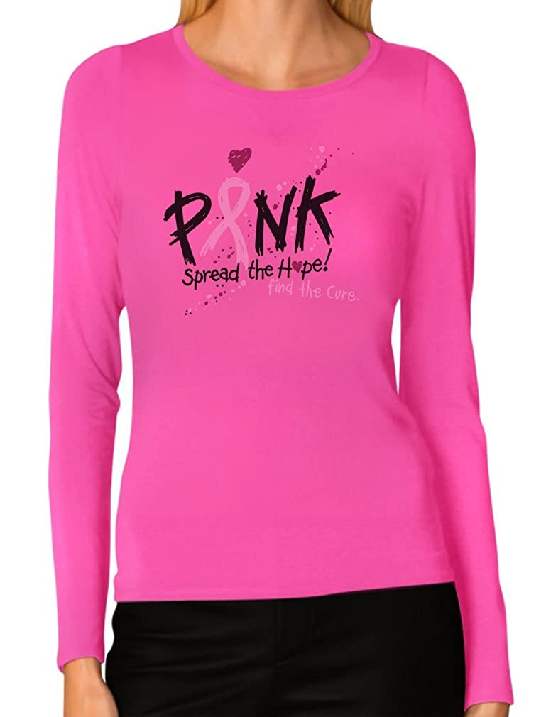 Pink Breast Cancer Awareness Spread The Hope Women Long Sleeve T-Shirt GZPlt-S