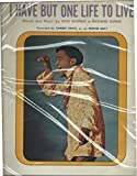 I Have But One Life to Live (Sammy Davis Jr.) - Piano/Vocal Sheet Music