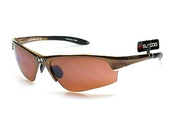 a2e21574d5d Sundog Crossfire Aluminium Golf Sunglasses - Copper with Cherry   Amber  Lens - Frame Featuring Sprung