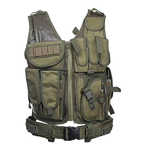OPS New Multifunctional Special Forces Outdoor Tactical Vest (Army Green)