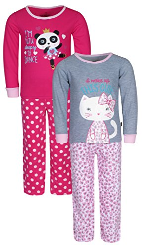 c7ae86365323 Galleon -  Duck Duck Goose Girls 2 Pack Polar And Thermal Pajama Top ...