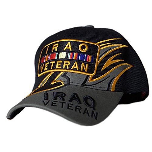 US HONOR TM Embroidered Shark Fin Iraq Veteran Bar Baseball Caps Hats