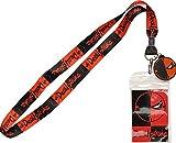 DC Comics Deathstroke Charm Lanyard Badge Holder