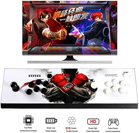 Easyget 2 Players Pandora's Box 4S Console Double Arcade Joystick - 815 Classic Video Games Machine for Computer / Projector / Screen / TV HDMI VGA Output