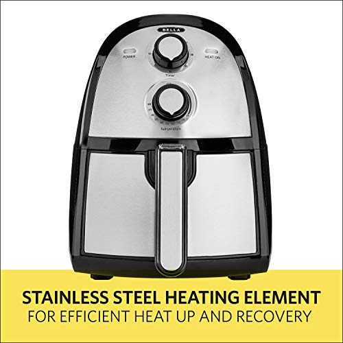 BELLA (14752) 2.6 Quart Electric Hot Air Fryer with Removable Dishwasher Safe Basket, Stainless Steel by BELLA (Image #7)