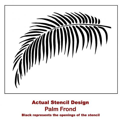 Palm Frond Wall Art Stencil Tropical Home Design