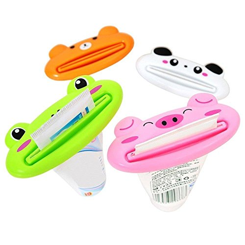 Children's Animal Character Toothpaste Tube Squeezers (4 Pack)