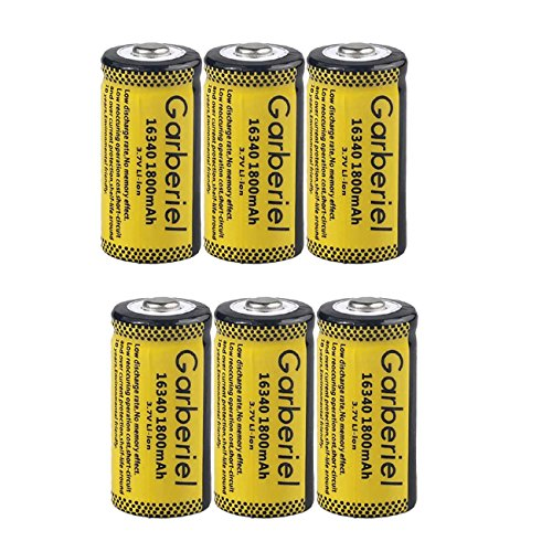 Garberiel 10-Pack 3.7v 16340 Li-ion Rechargeable Battery CR123A Battery for LED Flashlight by Garberiel (Image #2)