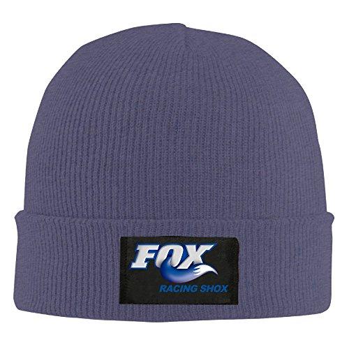 FOX RACING SHOX Unisex Warm Winter Hat Knit Beanie Skull Cap Cuff Beanie Hat Winter Hats (Skulls Fox Stickers)