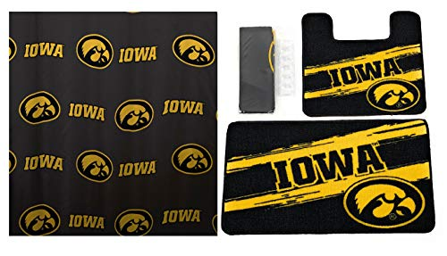 The Northwest Company Iowa Hawkeyes 15 Piece Bath Set -