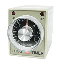 uxcell® AH3-2 DC 24V 8 Pins DPDT 0-6 Seconds 6Sec Power on Delay Timer Time Relay