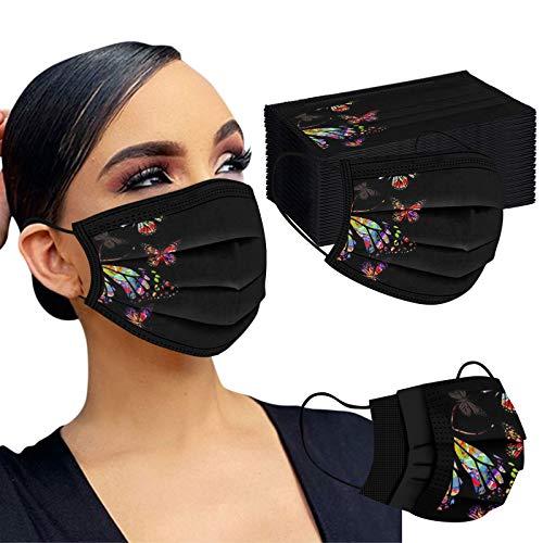 🥇 Gpure 50PC Adulto Mujer Bonitas Mariposa de Dibujos Negras Filtros de Alta Densidad 2020 Industrial Bufanda