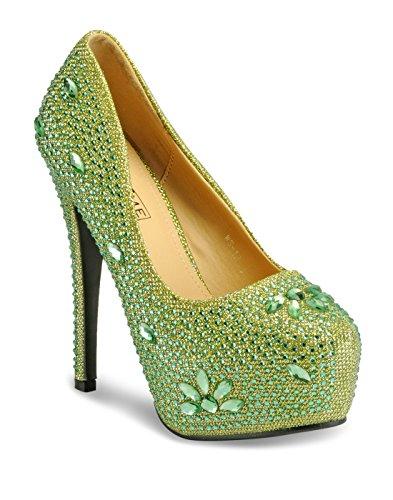 Yepme - Sandalias de vestir de Material Sintético para mujer verde verde