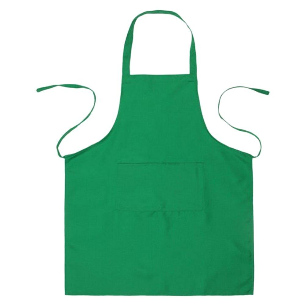 BESTONZON Schürze mit 2 Taschen Wasserdicht für Männer und Frauen (Grün) 60 * 70cm