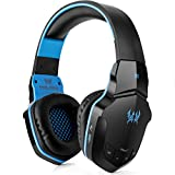 Image of Wireless Gaming Headset, Kotion Each B3505 V4.1 Bluetooth Gaming headsets Headphones with Microphone for PC Computer Mac Laptop iPhone Smartphone (Black Blue)