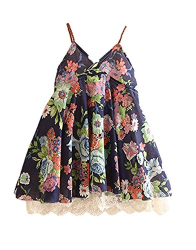 HUAER& Little Baby Girls Flowers Lace Beach Dress Summer Clothes 1-8 Year old (1-2T(80-90CM), Blue)