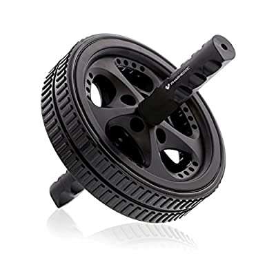 PharMeDoc Ab Roller Wheel - Abdominal Workout Equipment for Core Exercise, Athletes, and Home Gym - Dual Abs Wheel Roller Fitness Equipment