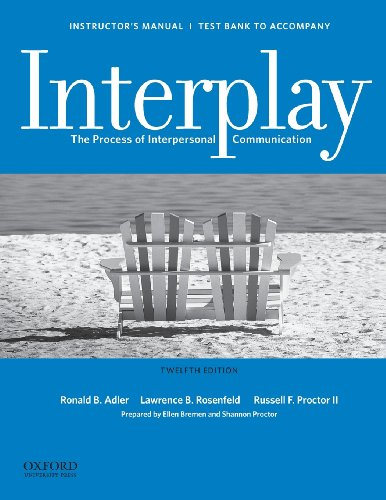 Instructor's Manual / Test Bank for Interplay