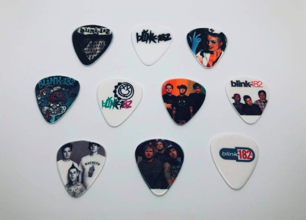 BLINK 182 Guitar Picks Set 10 picks//10 diferent designs