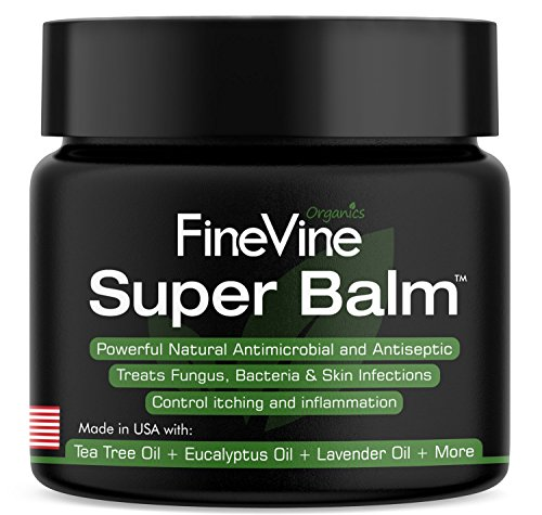 Antifungal Balm - Made in USA - Helps Treat Eczema, Ringworm, Jock Itch, Athletes Foot and Fungal Infections - Best Natural Ointment to Soothes Itchy, Scaly or Cracked Skin. (Tea Tree Foot Balm)