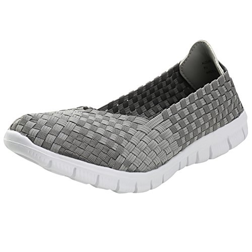 Alexis Leroy Ligero Elástico Zapatos Transpirable para mujer Gris