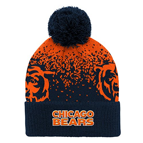 - NFL Chicago Bears Youth Boys Gradient Jacquard Cuffed Knit Hat Deep Obsidian, Youth One Size