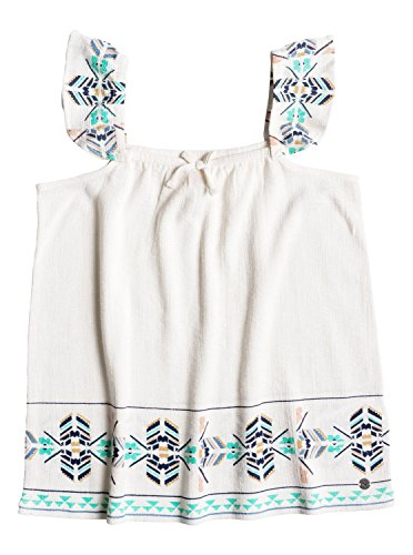 Roxy Girls are You Gonna - Strappy Top - Girls 7-14 - 12 - White Marshmellow (Marshmellow Costumes)