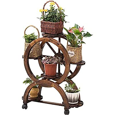Ceramic vases Wrought Iron Multi-Functional Partition Flower Stand, Indoor Living Room Decoration Balcony Multi-Layer Trapezoidal Flower Shelf, Outdoor Hanging,vase, Patio,Wedding: Home & Kitchen