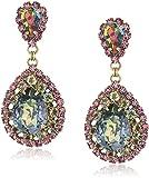 Sorrelli Womens Volcano Oval Encrusted Crystal Statement Drop Earrings, Multi, 1.5