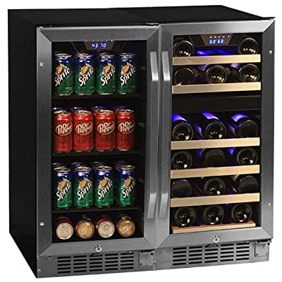 EdgeStar CWBV8026 30 Inch Wide 26 Bottle 80 Can Side-by-Side Wine and Beverage C