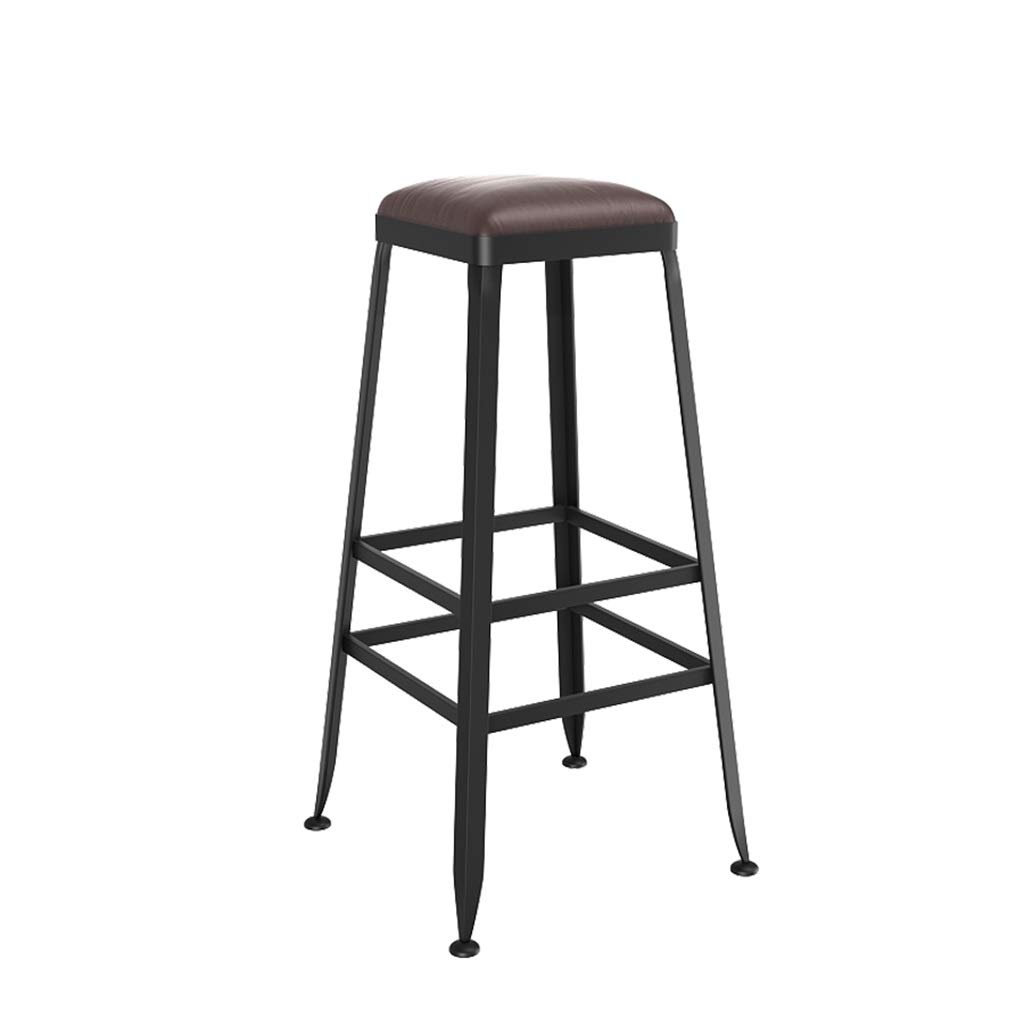 70cm FFLSDR Vintage Style Wrought Iron Bar Stool Bar Stool Can Be Used for Kitchen Restaurant Counter Bar Chair (Size   80cm)