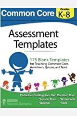 Common Core Assessment Templates: full color print version Paperback