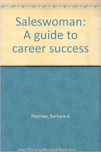 Saleswoman A Guide To Career Success Barbara Pletcher 9780870941665 Amazon Books