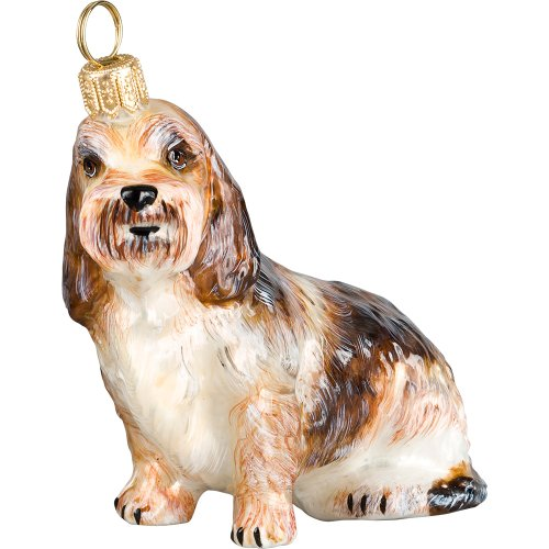 Petit Basset Griffon Vendeen Polish Glass Christmas Ornament Dog Tree Decoration