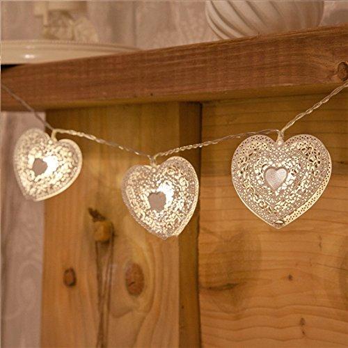 Wooden Heart Led Lights - 4