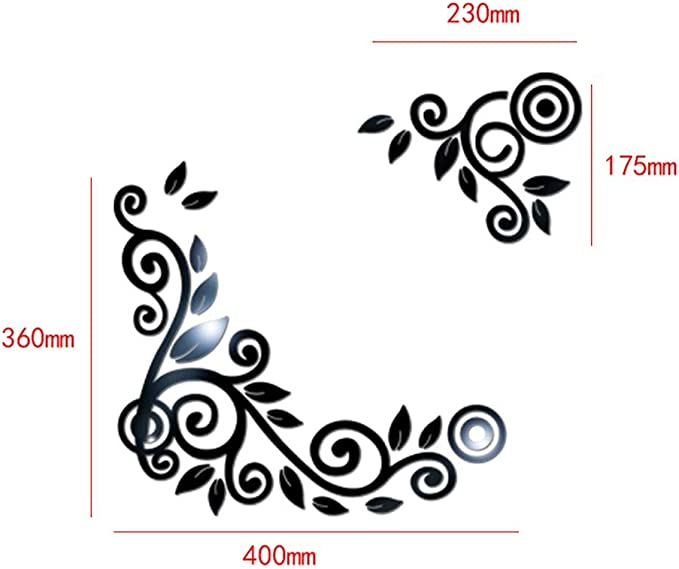 YWLINK 2PC / 1Set 3D DIY Forma De La Flor De AcríLico Etiqueta De ...
