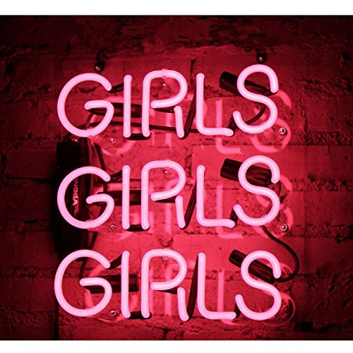 Girls Neon Signs, Handmade Glass Business Neon Light for Gift Bedroom Pub Hotel Wedding Party Decor Wall Sign Light 12'' x 10'' Pink by FLYDOO