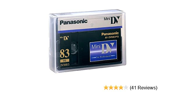 Electronics Mini DV tape Master 10 x 63min Panasonic AY DVM63MQ ...