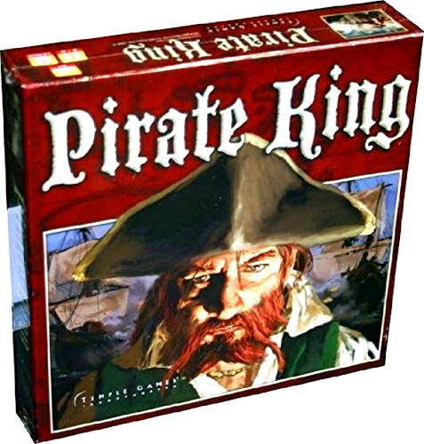 Pirate King Board Game (2006 Thin Box 2nd Edition) Nautical Adventure, Naval Combat, Treasure Chest, Caribbean Islands - OOP Discontinued by Manufacturer