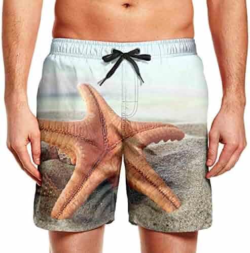 Ouxioaz Boys Swim Trunk Art City Landscape Beach Board Shorts